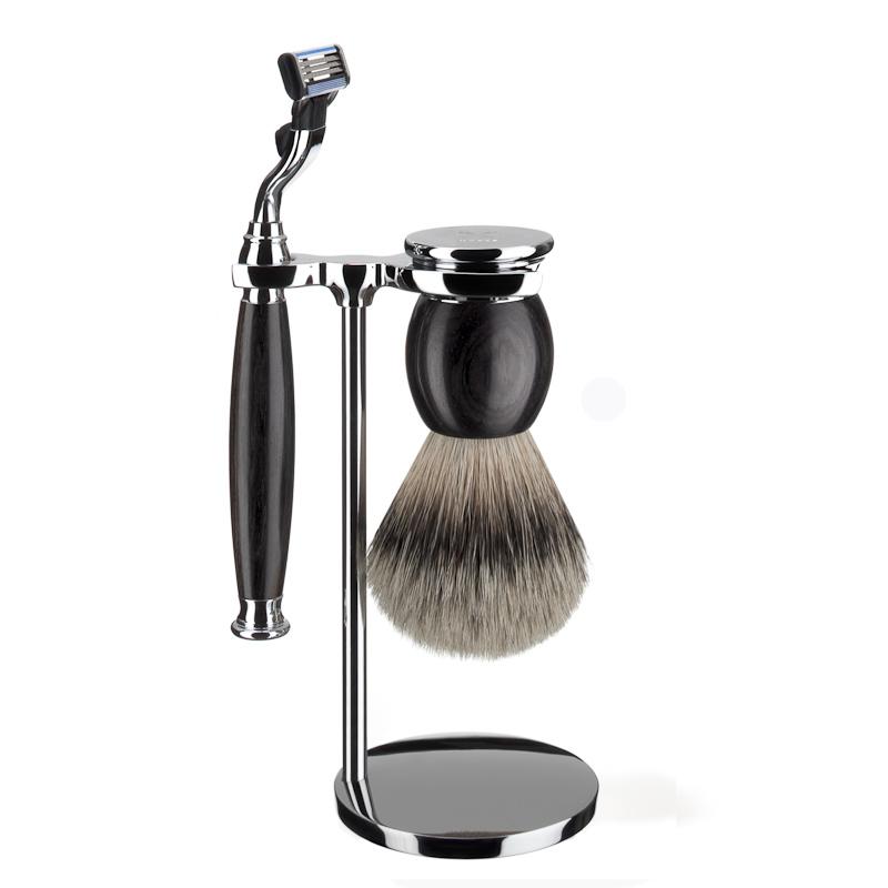 ミューレ SOPHIST シェービングセット/アフリカンブラックウッド 替刃:Mach3 (S93H85M3)【髭剃り ひげ剃り カミソリ かみそり シェービング 剃刀 ジレット スタンド シェービングブラシ シェービングセット 天然木 高級】