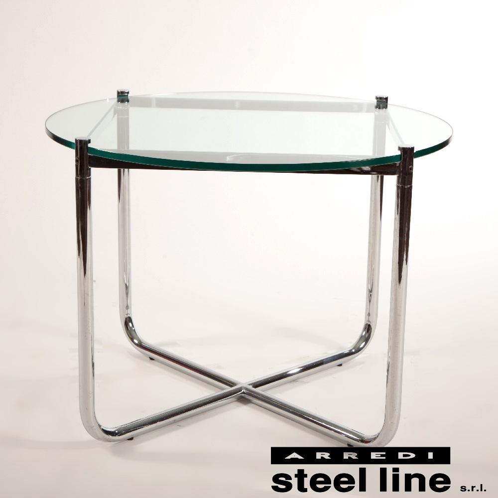 《100%MADE IN ITALY》ミース・ファン・デル・ローエ MRコーヒーテーブル スティールライン社DESIGN900