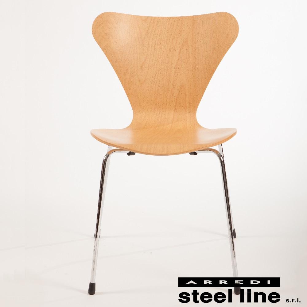 《100%MADE IN ITALY》アルネ・ヤコブセン セブンチェア(Seven chair)スティールライン社DESIGN900【セブンチェア】