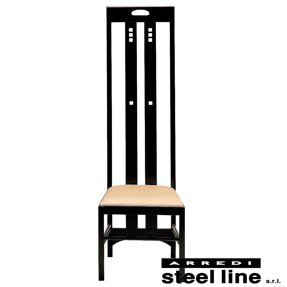 2019春の新作 《100%MADE IN ITALY》チャールズ・レニー・マッキントッシュ Ingram High Chair 本革仕様スティールライン社DESIGN900, O-PARTS cabc6623