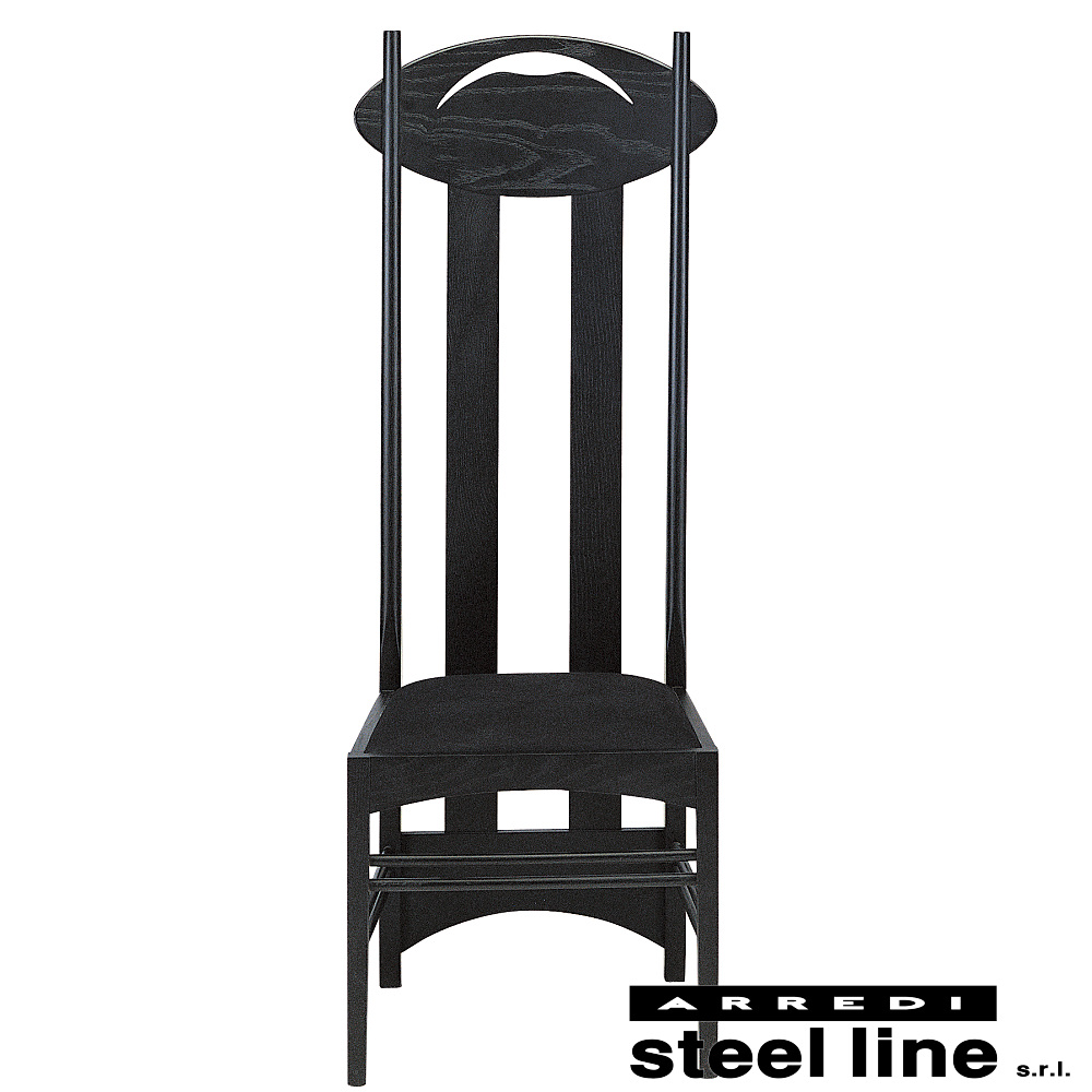 《100%MADE IN ITALY》チャールズ・レニー・マッキントッシュ Argyle Chair(アーガイルチェア) 本革仕様スティールライン社DESIGN900