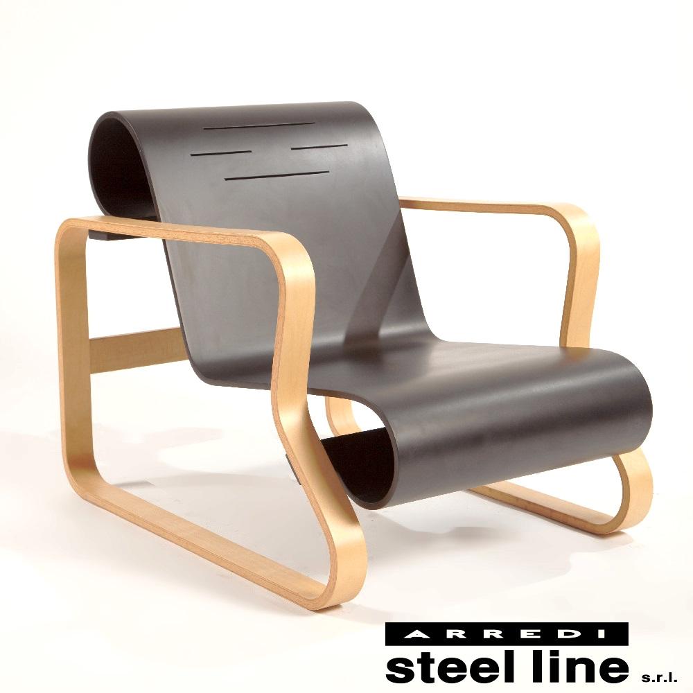 《100%MADE IN ITALY》アルヴァ・アアルト パイミオ スティールライン社DESIGN900