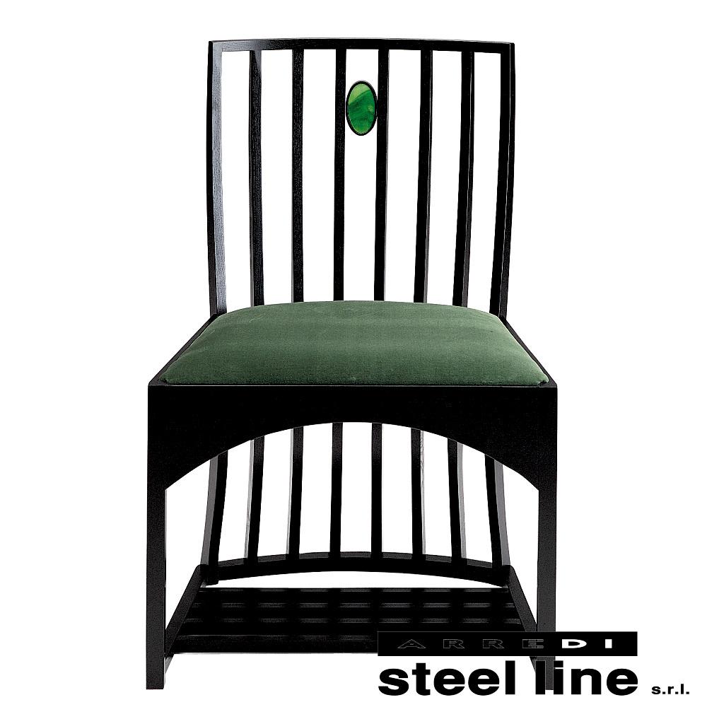 《100%MADE IN ITALY》チャールズ・レニー・マッキントッシュ Side Chairスティールライン社DESIGN900