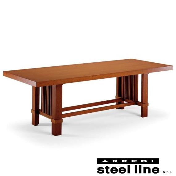 《100%MADE IN ITALY》フランク・ロイド・ライト タリアセン ダイニングテーブル250cm(Taliesin)スティールライン社DESIGN900