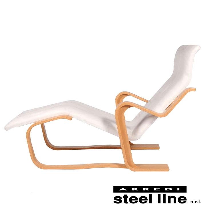 《100%MADE IN ITALY》マルセル・ブロイヤー シェーズロングスティールライン社DESIGN900