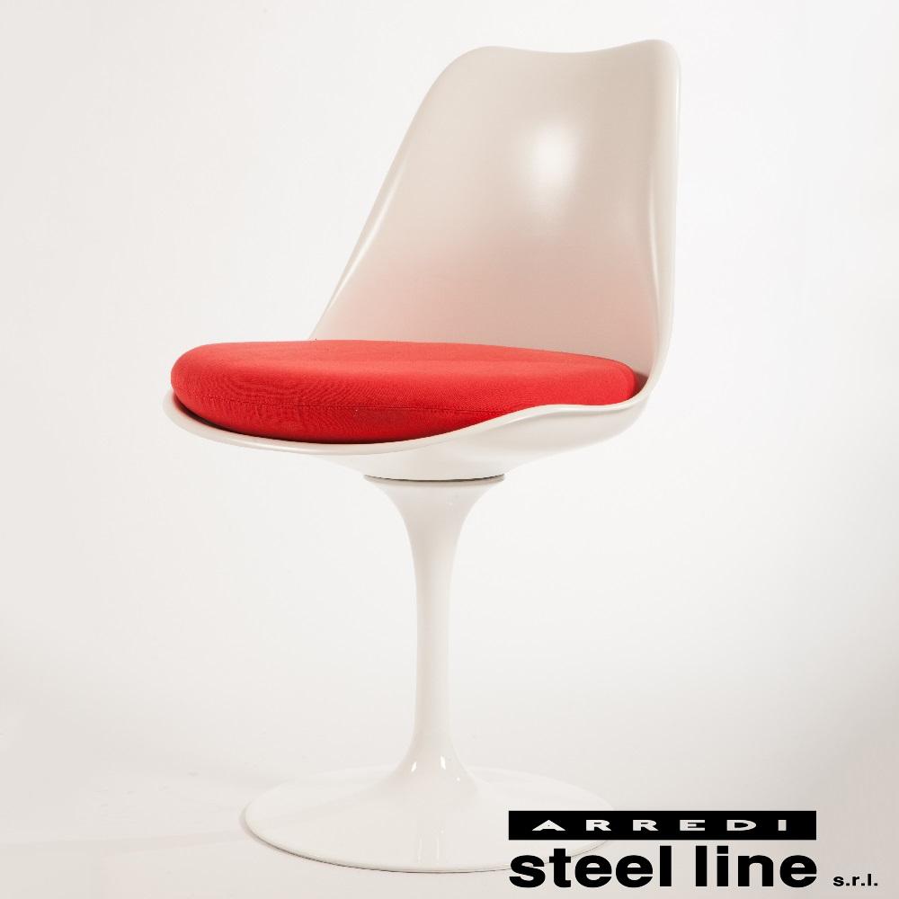 《100%MADE IN ITALY》エーロ・サーリネン チューリップサイドチェア スティールライン社DESIGN900