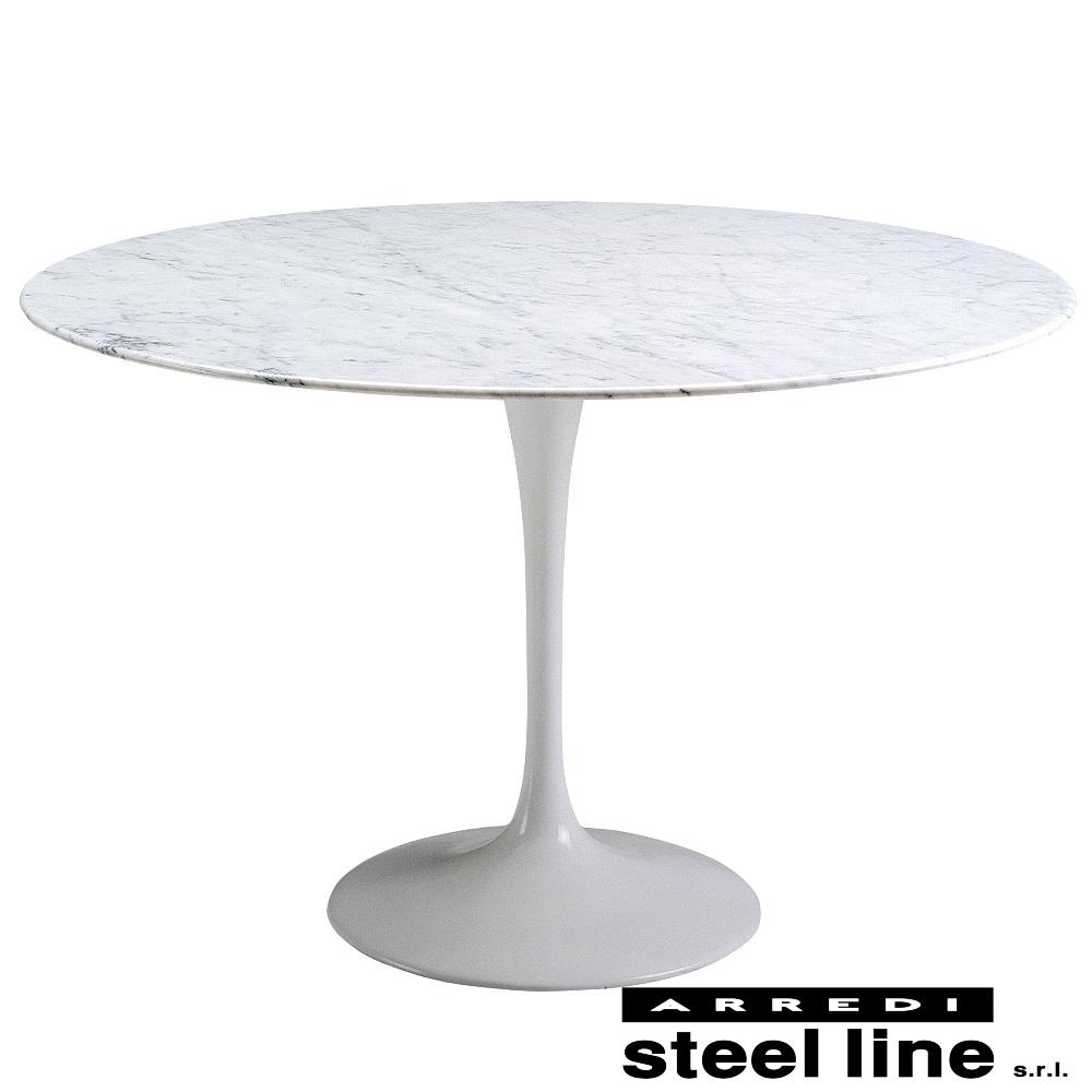 《100%MADE IN ITALY》エーロ・サーリネン チューリップダイニングテーブル(φ150)スティールライン社DESIGN900
