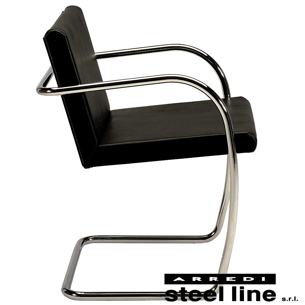 《100%MADE IN ITALY》ミース・ファン・デル・ローエ ブルーノチェア(Brno Chair) チューブラー仕様スティールライン社DESIGN900