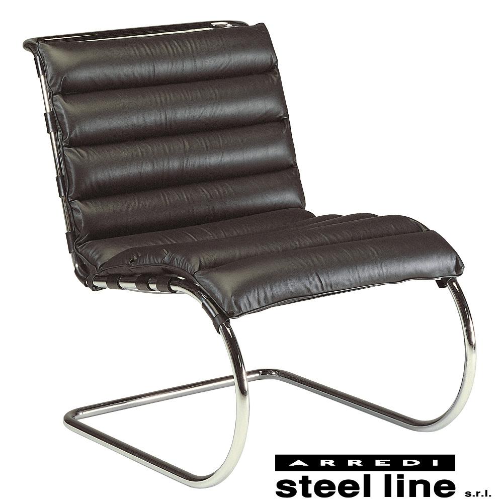 《100%MADE IN ITALY》ミース・ファン・デル・ローエ MRラウンジチェア(MR Lounge Chair)スティールライン社DESIGN900