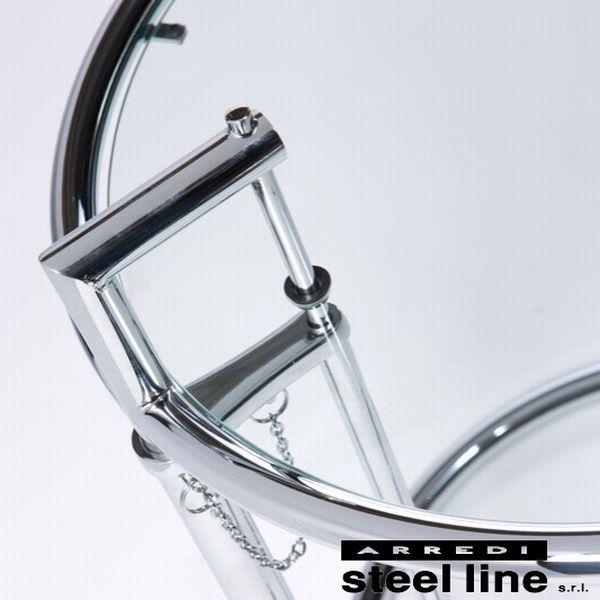 《100%MADE IN ITALY》アイリーン・グレイ E1027 サイドテーブル プレミアムエディションスティールライン社DESIGN900