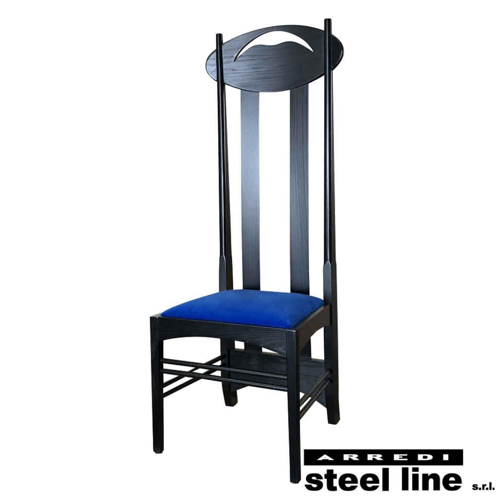 《100%MADE IN ITALY》チャールズ・レニー・マッキントッシュ Argyle Chair (アーガイルチェア) スティールライン社DESIGN900