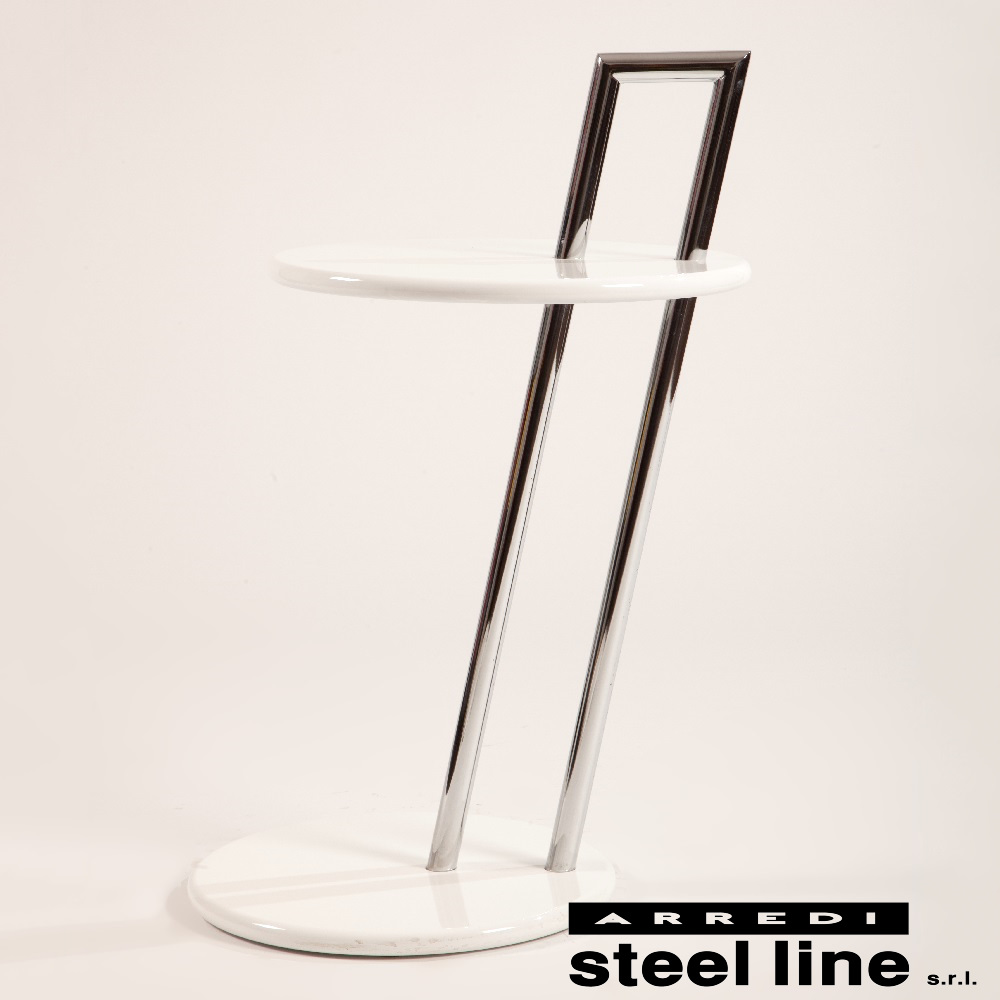 《100%MADE IN ITALY》アイリーン・グレイ オケージョナルテーブル ラウンドスティールライン社DESIGN900【サイドテーブル】