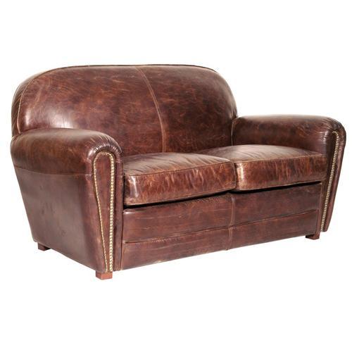 《HALO》ヴィンテージレザーソファ Fleamarket 2P (Vintage Leather Sofa)【送料無料】 【アンティーク】【ビンテージ】【アニリンレザー】【チェスターフィールド(chesterfield)】 【受注生産対応品:2~3ヶ月】
