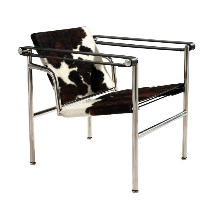 Corbusier(ル・コルビジェ) LC1スリングチェア ポニースキン仕様(バスキュラントチェア)【送料無料】【コルビュジェ】【コルビュジエ】【コルビジュエ】