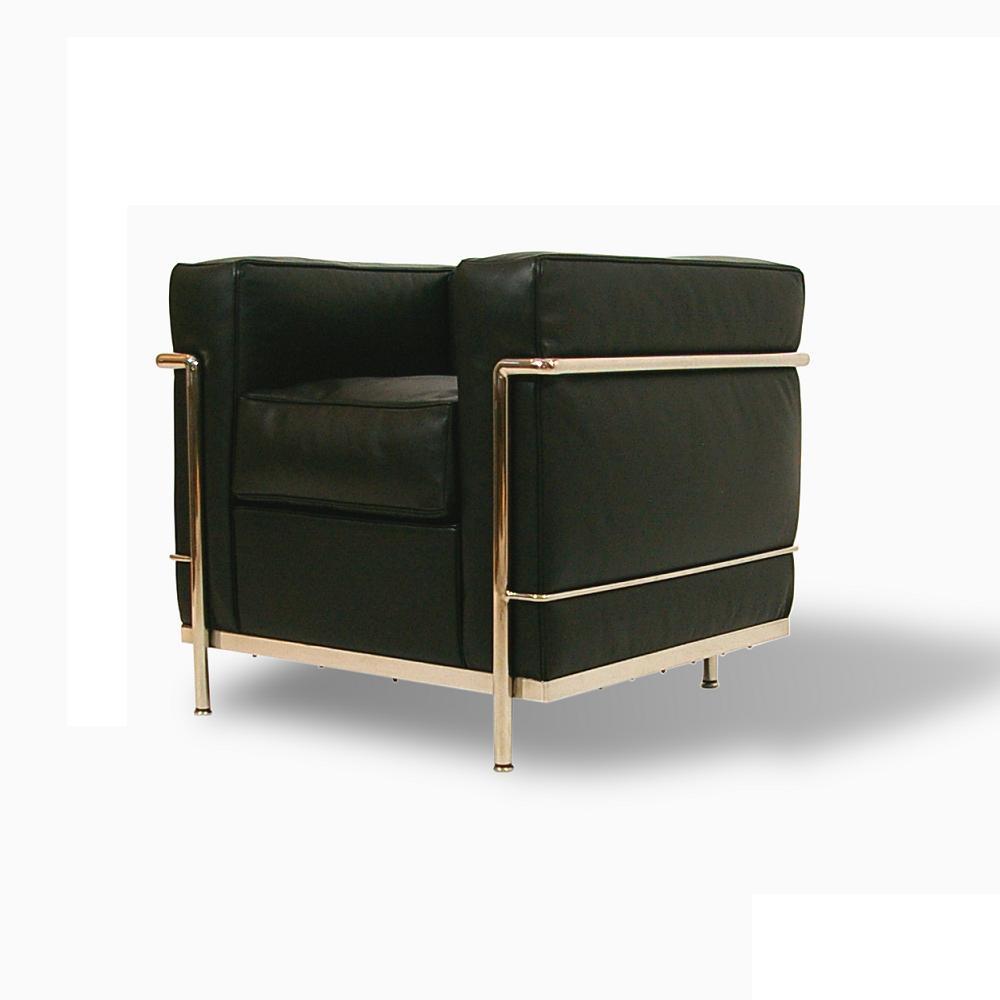 Corbusier(ル・コルビジェ) 総本革LC2グランコンフォール 1人掛け【送料無料】【コルビュジェ】【コルビュジエ】【コルビジュエ】