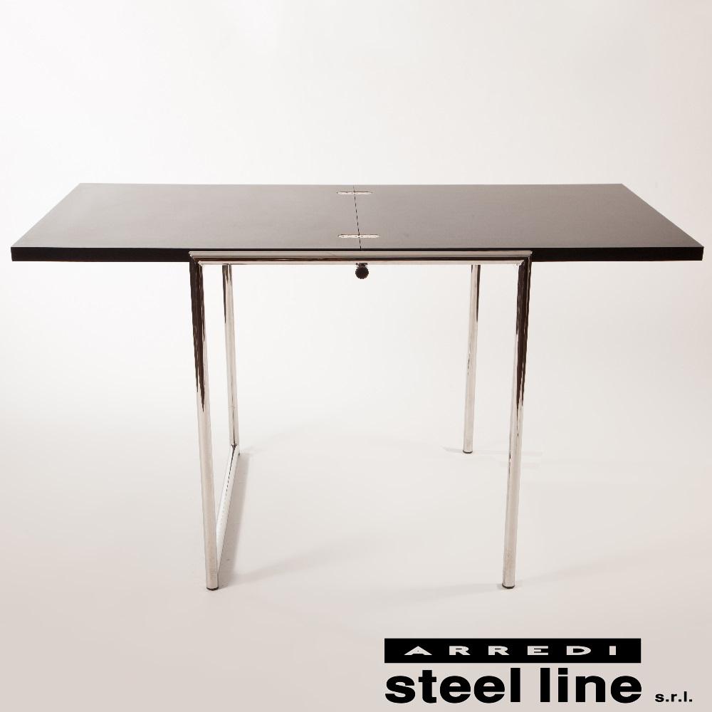《100%MADE IN ITALY》アイリーン・グレイ JEANフォールディングテーブルスティールライン社DESIGN900