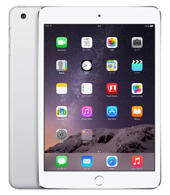【中古】【安心保証】au iPadmini3[WiFi+4G 64] シルバー