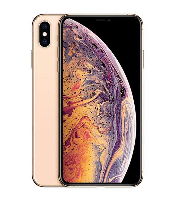 【中古】【安心保証】 au iPhoneXS Max[64GB] ゴールド