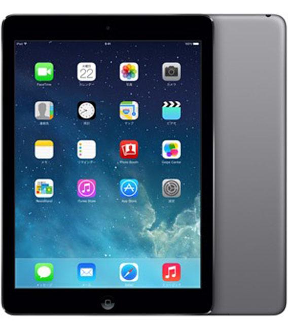 【中古】【安心保証】 au iPadAir 1[セルラー64G] グレイ