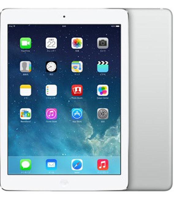 【中古】【安心保証】au iPadAir 1[セルラー128G] シルバー