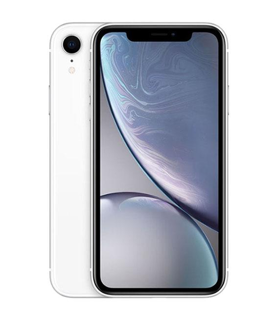 【中古】【安心保証】 au iPhoneXR[128G] ホワイト SIMロック解除済