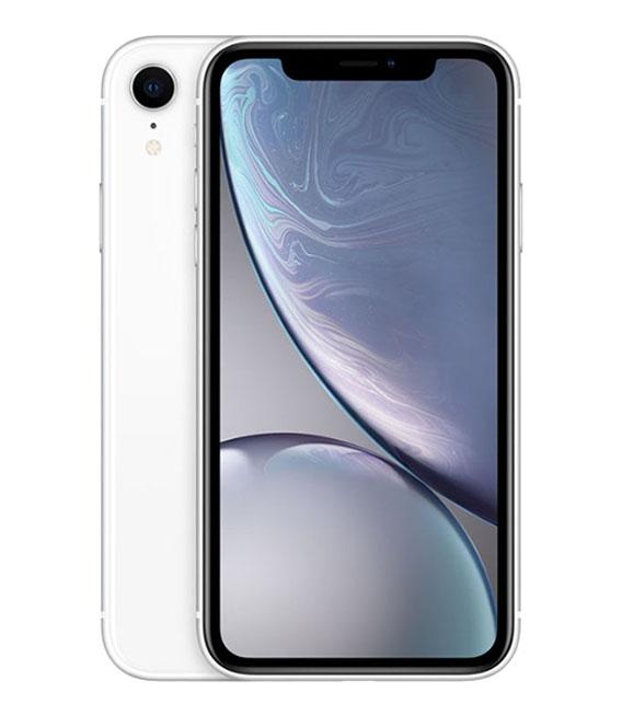 【中古】【安心保証】 au iPhoneXR[256G] ホワイト