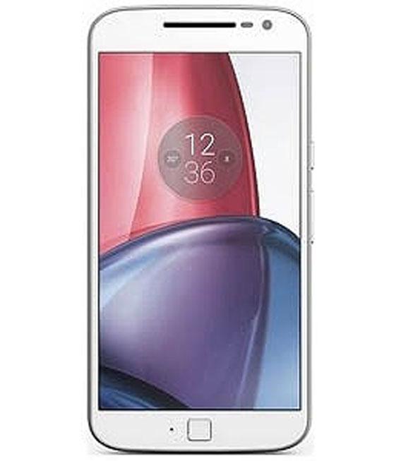 【中古】【安心保証】 SIMフリー MotoG4Plus[32G] ホワイト