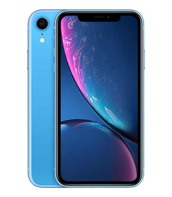 【中古】【安心保証】SoftBank iPhoneXR[64G] ブルー