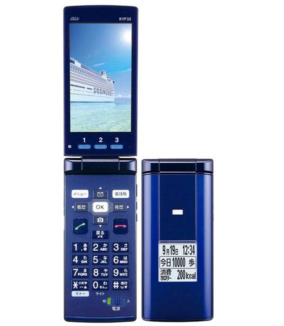 返品交換不可 本体 白ロム ガラホ Bランク エーユー 安心保証 ブルー KYF32 中古 au メーカー直送