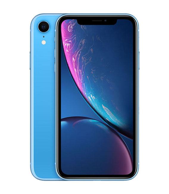 【中古】【安心保証】 au iPhoneXR[64G] ブルー SIMロック解除済