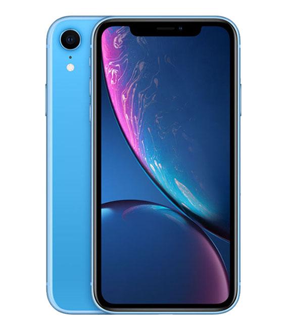 【中古】【安心保証】 au iPhoneXR[256G] ブルー