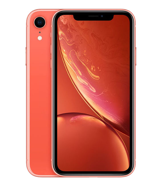 【中古】【安心保証】 SoftBank iPhoneXR[128GB] コーラル