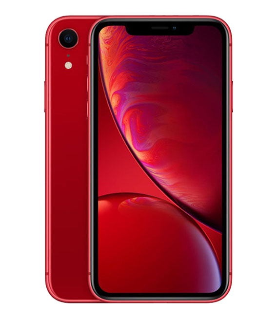 【中古】【安心保証】 au iPhoneXR[64GB] レッド