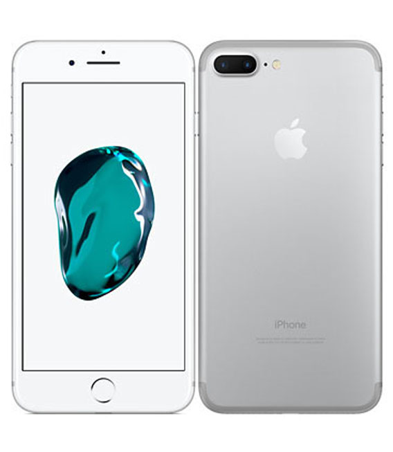 【中古】【安心保証】au iPhone7Plus[128G] シルバー SIMロック解除済