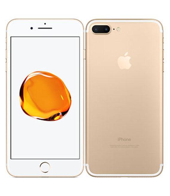 【中古】【安心保証】 au iPhone7Plus[128G] ゴールド SIMロック解除済