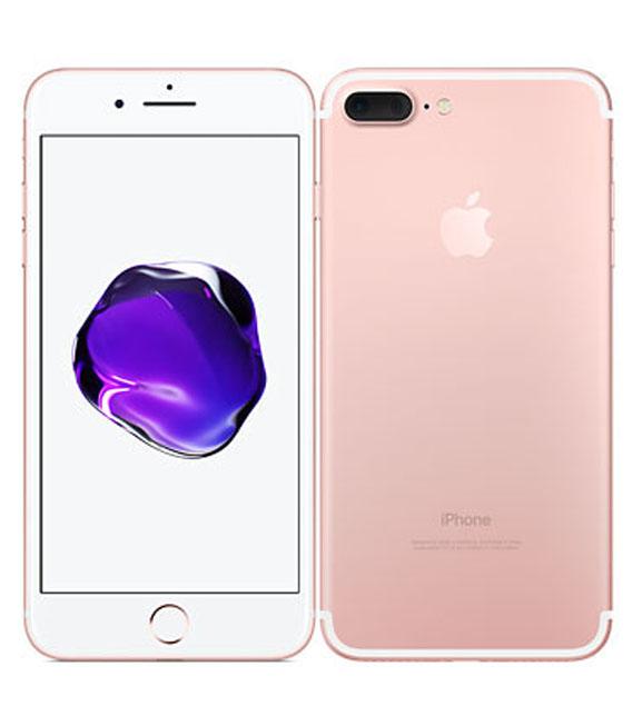 【中古】【安心保証】 au iPhone7Plus[128G] ローズ SIMロック解除済