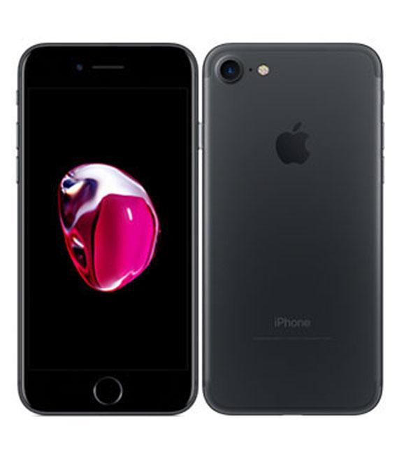【中古】【安心保証】 au iPhone7[32G] ブラック SIMロック解除済