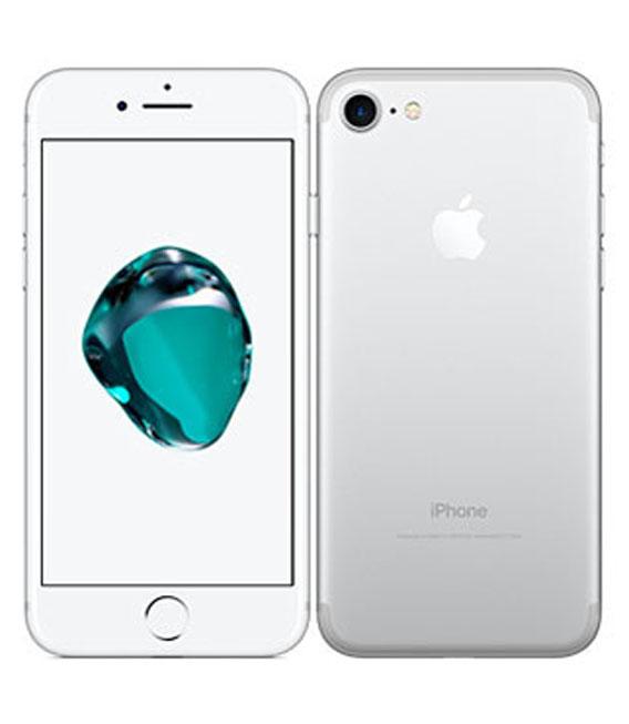 【中古】【安心保証】 au iPhone7[128G] Silver SIMロック解除済
