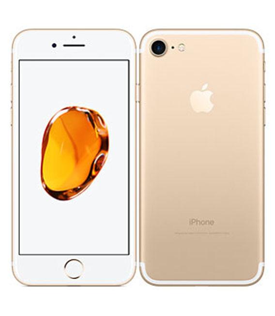 【中古】【安心保証】au iPhone7[128G] ゴールド SIMロック解除済