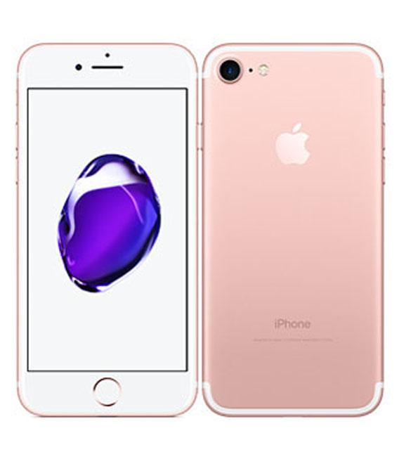 【中古】【安心保証】 au iPhone7 256GB ローズゴールド SIMロック解除済