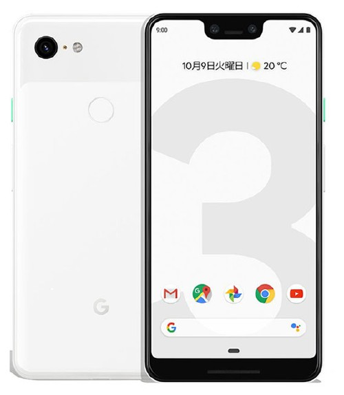 【中古】【安心保証】 SoftBank Pixel 3XL[128G] クリアリーホワイト
