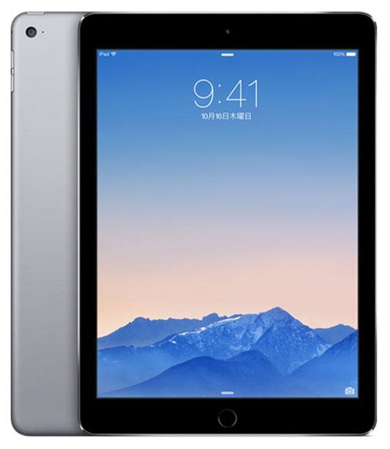 【中古】【安心保証】 SoftBank iPadAir 2[4G32G] スペースグレイ