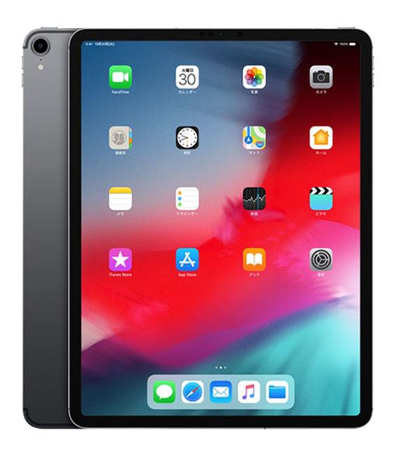【中古】【安心保証】 au iPadPro 3ー12.9[セルラー512G] グレイ