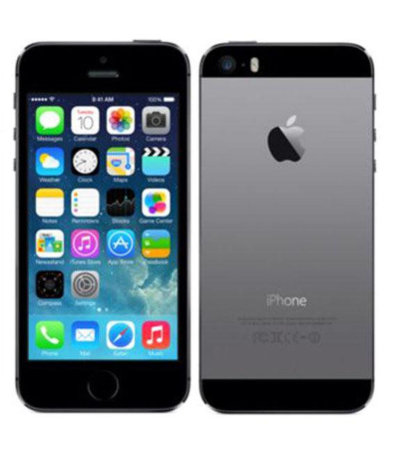 【中古】【安心保証】 au iPhone5s[32GB-a] スペースグレイ