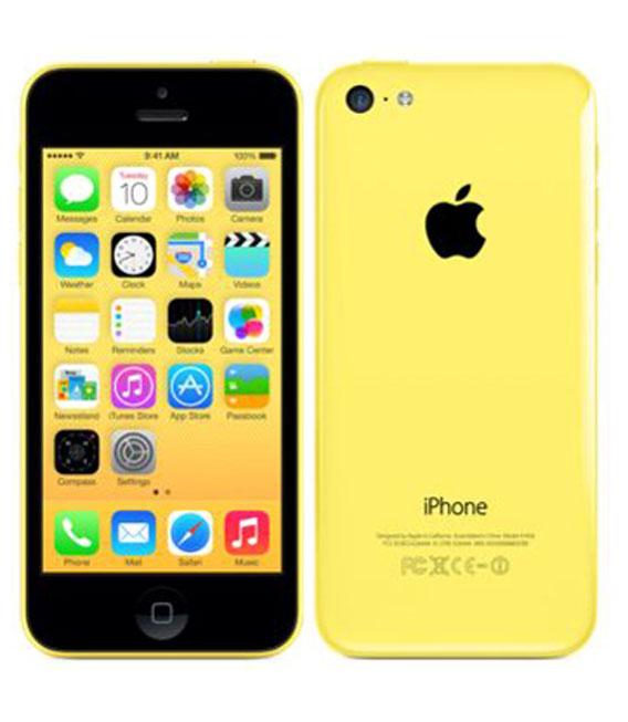 【中古】【安心保証】 au iPhone5c[32GB-a] イエロー