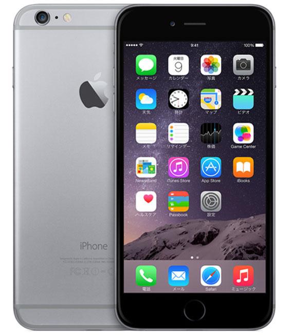 【中古】【安心保証】 iPhone6Plus[64GB] SIMフリー スペースグレイ