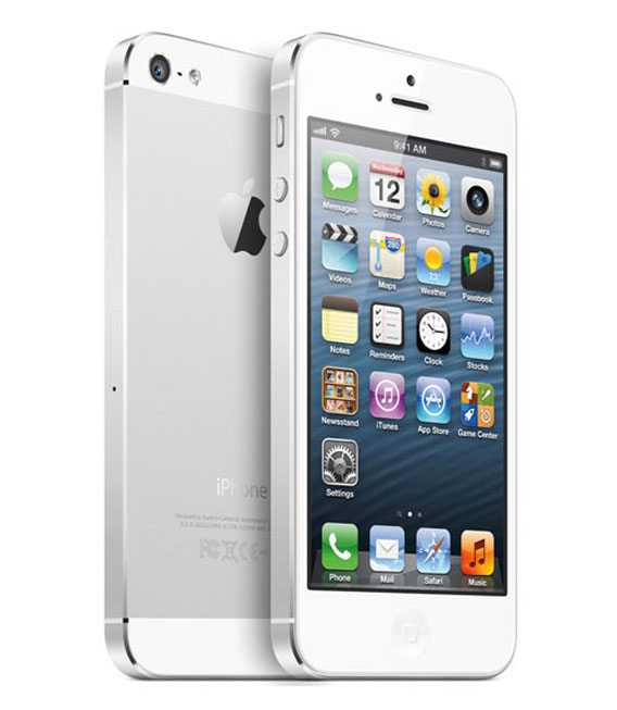 【中古】【安心保証】 au iPhone5[64GB] ホワイト&シルバー