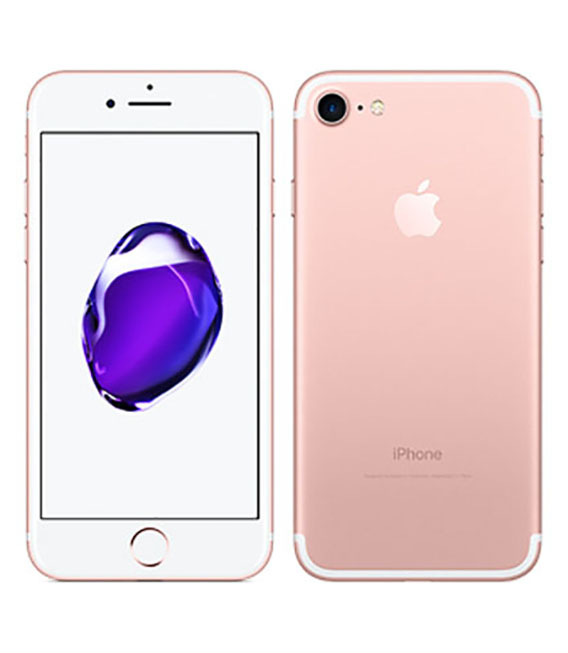 【中古】【安心保証】 iPhone7[128GB] UQモバイル MNCN2J ローズゴールド