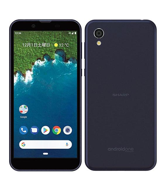 【中古】【安心保証】Y!mobile AndroidOne S5 ダークブルー