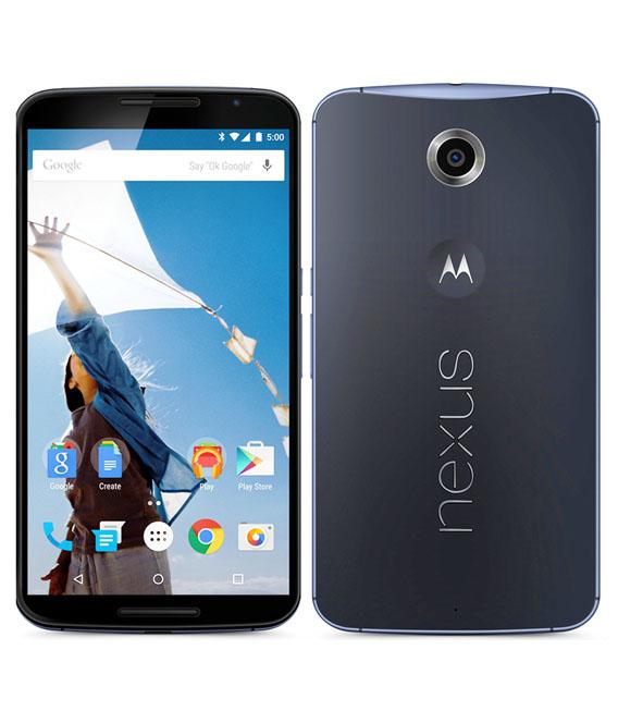 【中古】【安心保証】 SIMフリー Nexus6[32G] ダークブルー